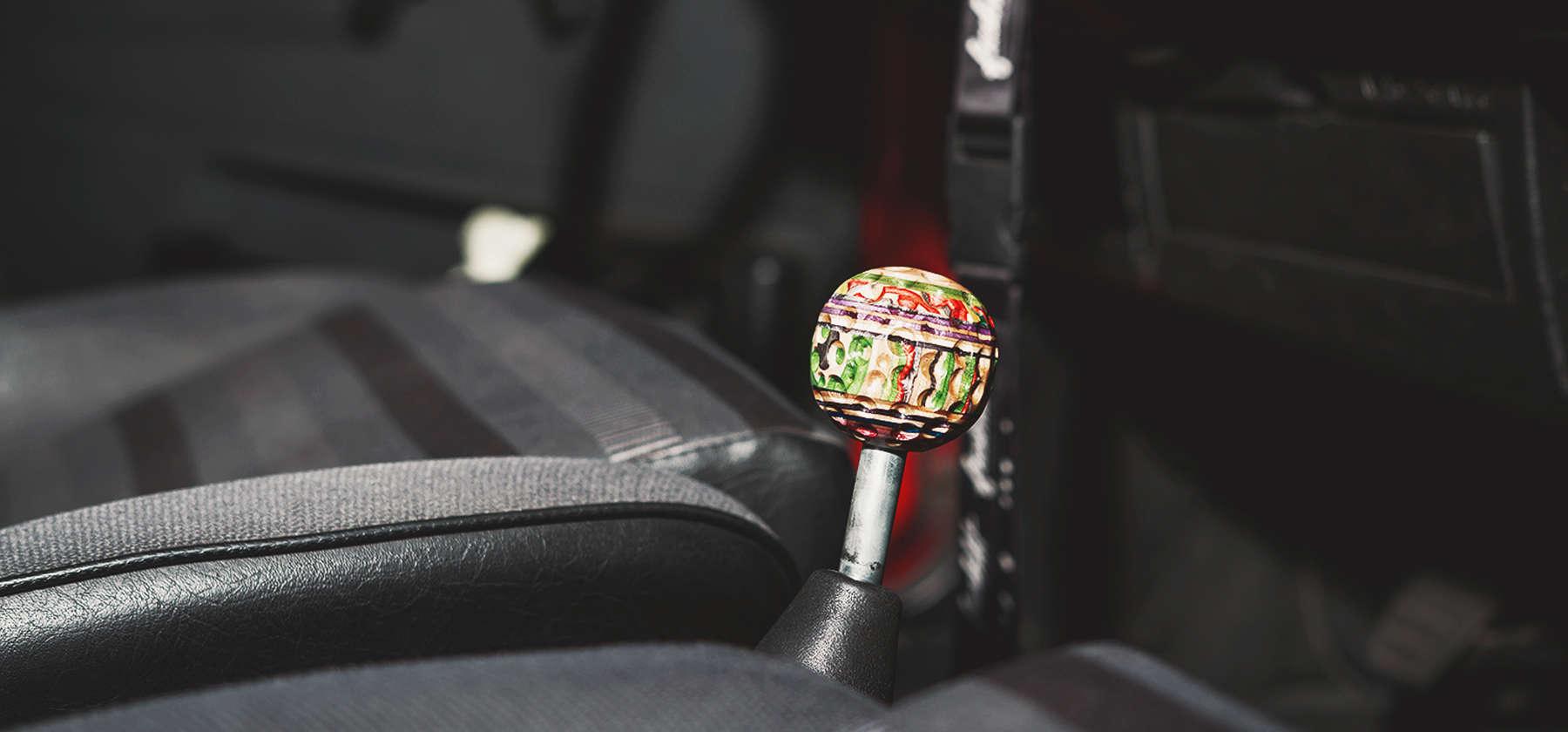 Golfball shift knob