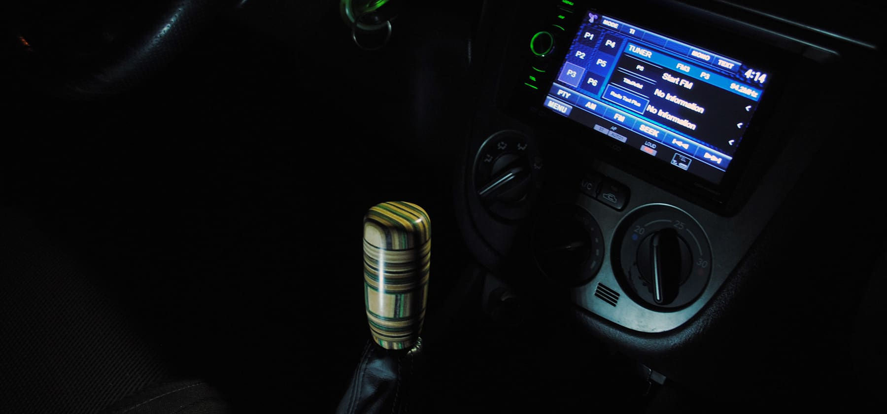 subaru green stick shift knob