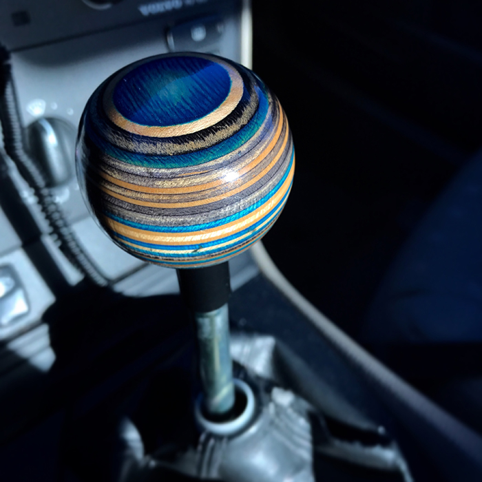 blue top planet shift knob