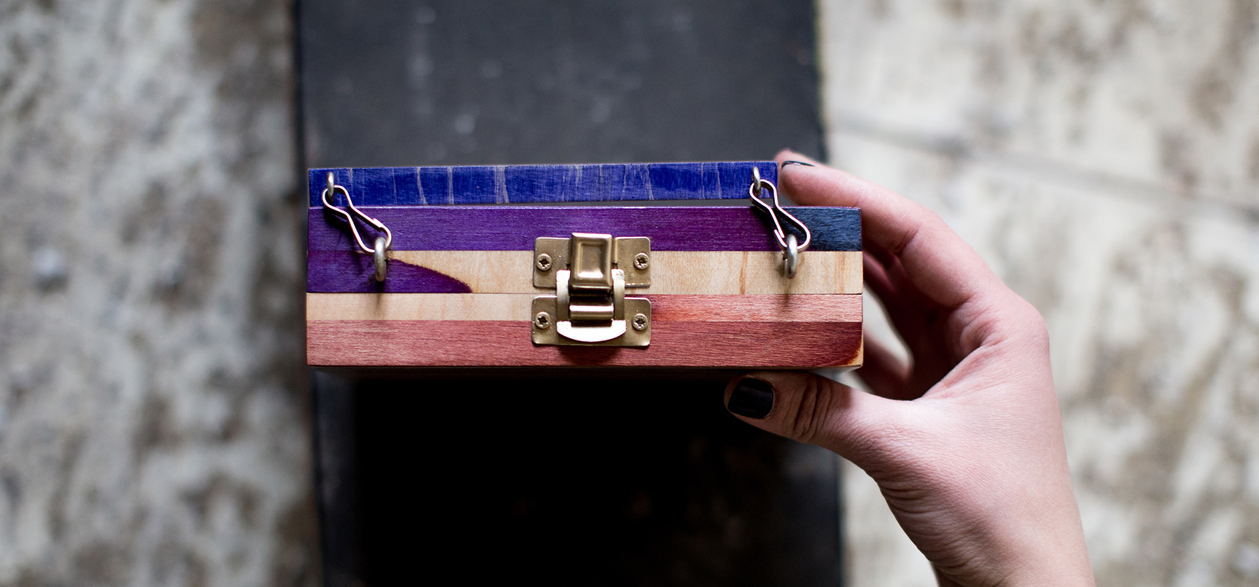recycled skateboard clutch