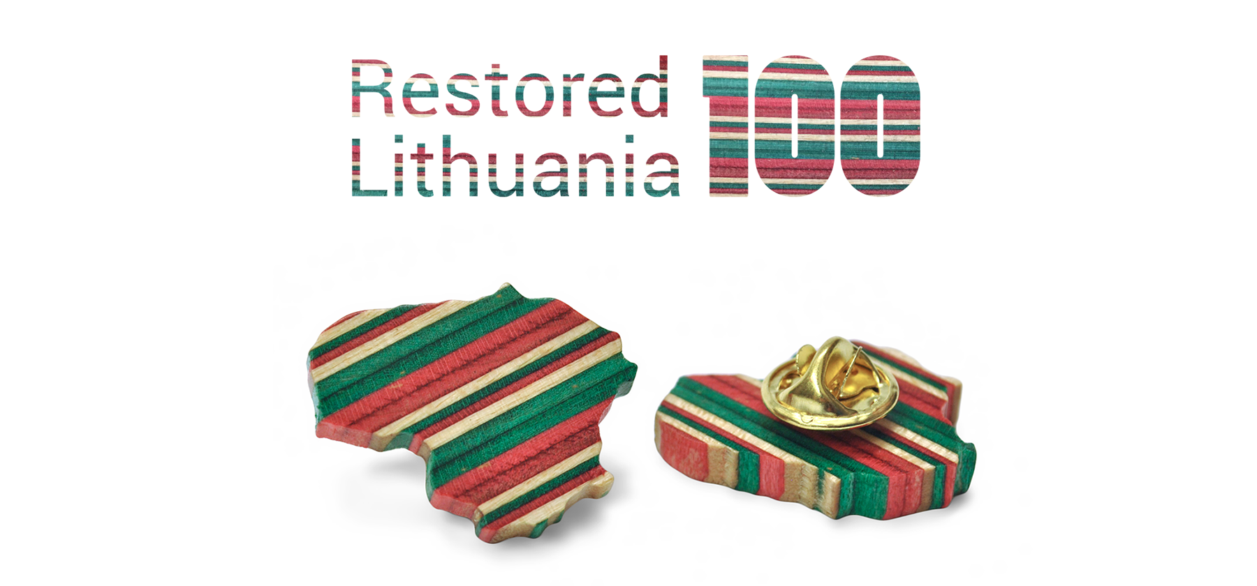 lithuania lapel pin
