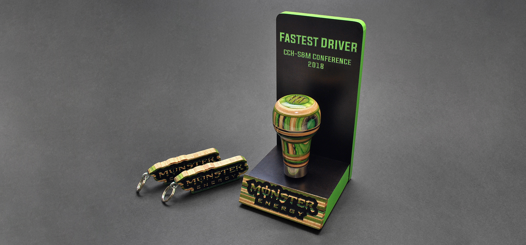 monster energy shift knob trophy
