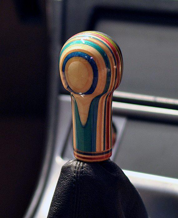 universal tr shift knob blue sides