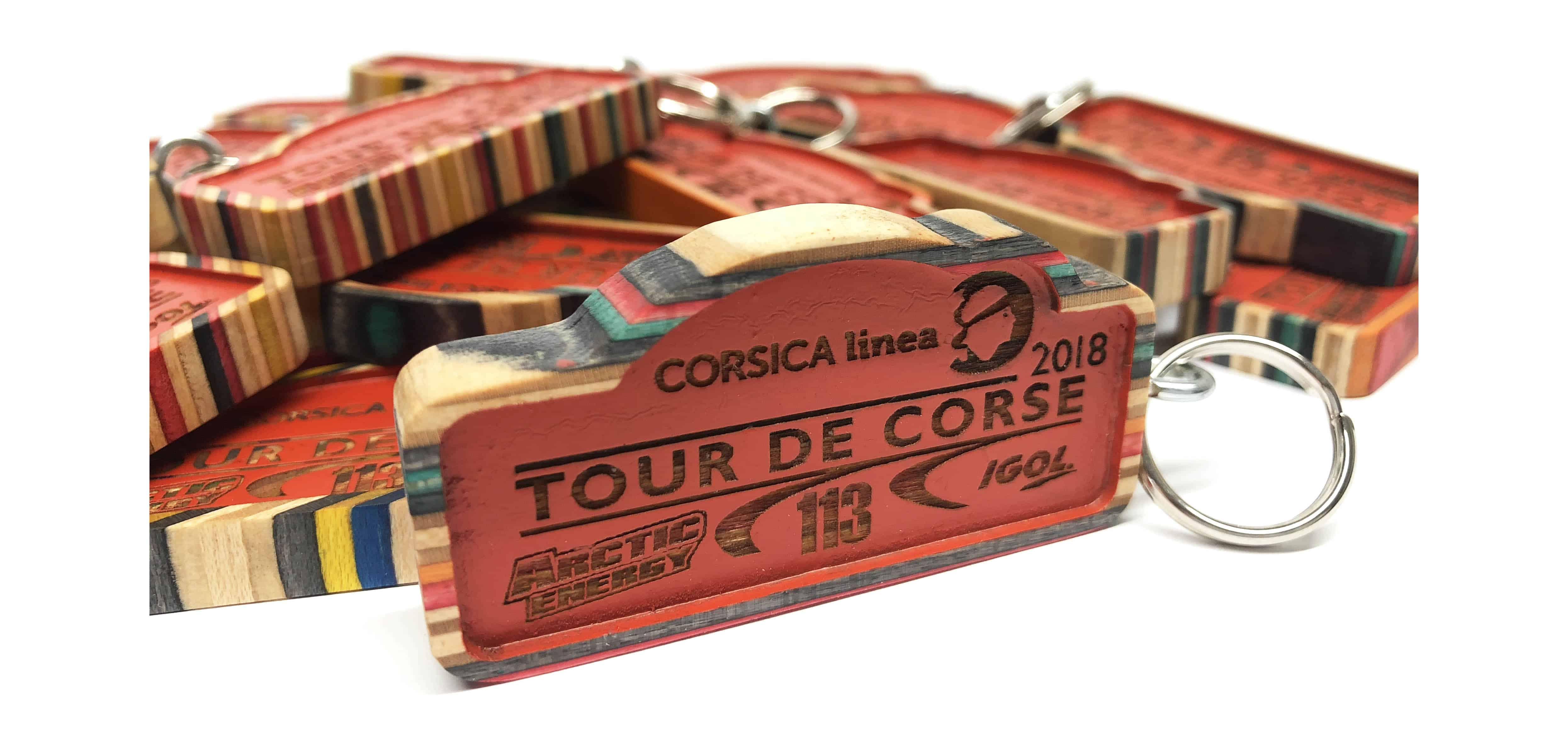 Tour de corse keychain