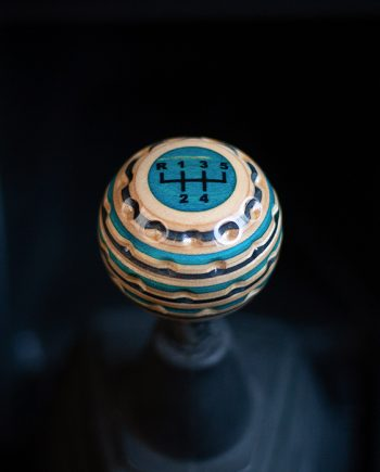 golf ball shift knob blue