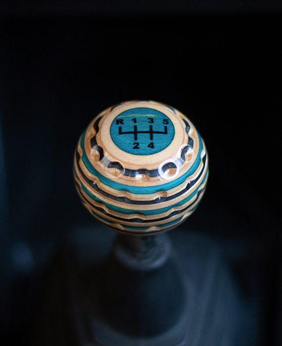 golf ball shift knob blue