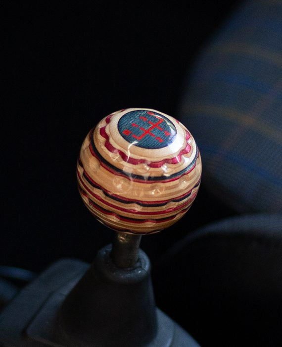 golf ball shift knob red